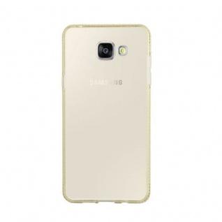 Cadorabo Hülle für Samsung Galaxy A5 2016 - Hülle in TRANSPARENT GOLD ? Handyhülle aus TPU Silikon im Strass Design - Silikonhülle Schutzhülle Ultra Slim Soft Back Cover Case Bumper - Vorschau 2