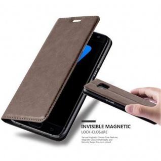 Cadorabo Hülle für Samsung Galaxy S7 EDGE in KAFFEE BRAUN - Handyhülle mit Magnetverschluss, Standfunktion und Kartenfach - Case Cover Schutzhülle Etui Tasche Book Klapp Style