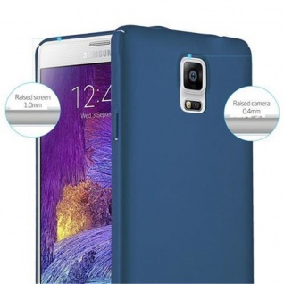 Cadorabo Hülle für Samsung Galaxy NOTE 4 in METALL BLAU - Hardcase Handyhülle aus Plastik gegen Kratzer und Stöße - Schutzhülle Bumper Ultra Slim Back Case Hard Cover - Vorschau 4