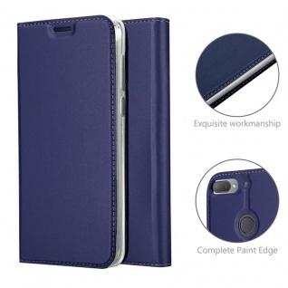 Cadorabo Hülle für HTC Desire 12 PLUS in CLASSY DUNKEL BLAU - Handyhülle mit Magnetverschluss, Standfunktion und Kartenfach - Case Cover Schutzhülle Etui Tasche Book Klapp Style - Vorschau 4