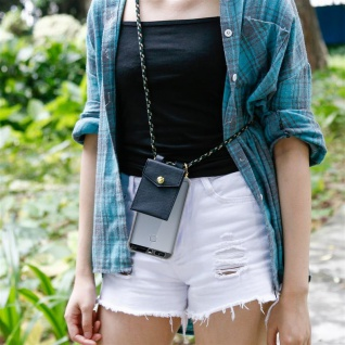 Cadorabo Handy Kette für Huawei P9 in CAMOUFLAGE ? Silikon Necklace Umhänge Hülle mit Gold Ringen, Kordel Band Schnur und abnehmbarem Etui ? Schutzhülle - Vorschau 3