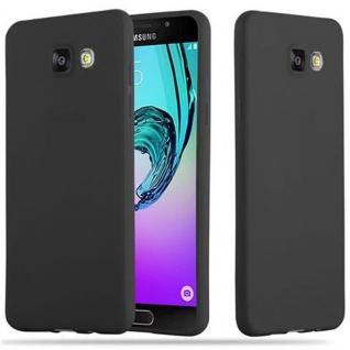 Cadorabo Hülle für Samsung Galaxy A5 2016 in CANDY SCHWARZ - Handyhülle aus flexiblem TPU Silikon - Silikonhülle Schutzhülle Ultra Slim Soft Back Cover Case Bumper