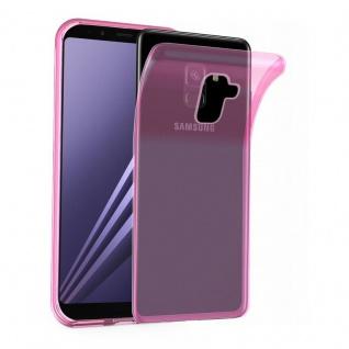 Cadorabo Hülle für Samsung Galaxy A8 2018 in TRANSPARENT PINK - Handyhülle aus flexiblem TPU Silikon - Silikonhülle Schutzhülle Ultra Slim Soft Back Cover Case Bumper