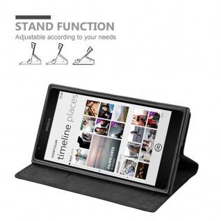 Cadorabo Hülle für Nokia Lumia 1520 in NACHT SCHWARZ - Handyhülle mit Magnetverschluss, Standfunktion und Kartenfach - Case Cover Schutzhülle Etui Tasche Book Klapp Style - Vorschau 3
