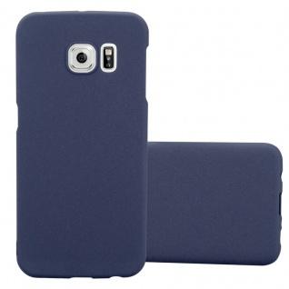 Cadorabo Hülle für Samsung Galaxy S6 EDGE in FROSTY BLAU - Hardcase Handyhülle aus Plastik gegen Kratzer und Stöße - Schutzhülle Bumper Ultra Slim Back Case Hard Cover