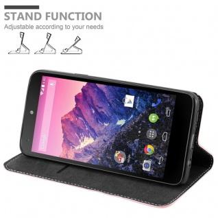 Cadorabo Hülle für LG NEXUS 5 in ROSÉ GOLD SCHWARZ ? Handyhülle mit Magnetverschluss, Standfunktion und Kartenfach ? Case Cover Schutzhülle Etui Tasche Book Klapp Style - Vorschau 2