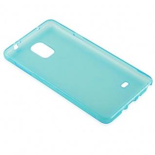 Cadorabo Hülle für Samsung Galaxy NOTE 4 in TRANSPARENT BLAU - Handyhülle aus flexiblem TPU Silikon - Silikonhülle Schutzhülle Ultra Slim Soft Back Cover Case Bumper - Vorschau 3