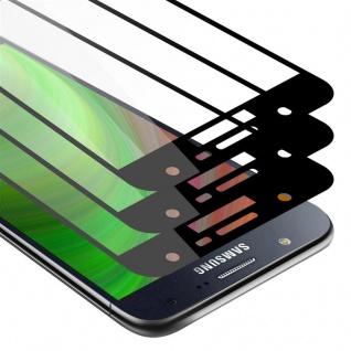 Cadorabo 3x Vollbild Panzer Folie für Samsung Galaxy J7 - Schutzfolie in TRANSPARENT mit SCHWARZ - 3er Pack Gehärtetes (Tempered) Display-Schutzglas in 9H Härte mit 3D Touch
