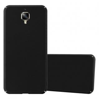 Cadorabo Hülle für OnePlus 3 / 3T in METALL SCHWARZ ? Hardcase Handyhülle aus Plastik gegen Kratzer und Stöße ? Schutzhülle Bumper Ultra Slim Back Case Hard Cover