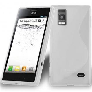 Cadorabo Hülle für LG OPTIMUS GJ in HALB TRANSPARENT ? Handyhülle aus flexiblem TPU Silikon ? Silikonhülle Schutzhülle Ultra Slim Soft Back Cover Case Bumper