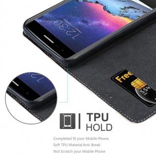Cadorabo Hülle für LG K8 2017 in ROSÉ GOLD SCHWARZ ? Handyhülle mit Magnetverschluss, Standfunktion und Kartenfach ? Case Cover Schutzhülle Etui Tasche Book Klapp Style