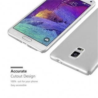 Cadorabo Hülle für Samsung Galaxy NOTE 4 in METALL SILBER - Hardcase Handyhülle aus Plastik gegen Kratzer und Stöße - Schutzhülle Bumper Ultra Slim Back Case Hard Cover - Vorschau 5