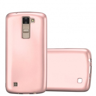 Cadorabo Hülle für LG K8 2016 in METALLIC ROSÉ GOLD - Handyhülle aus flexiblem TPU Silikon - Silikonhülle Schutzhülle Ultra Slim Soft Back Cover Case Bumper