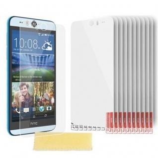 Cadorabo Displayschutzfolien für HTC DESIRE EYE - Schutzfolien in HIGH CLEAR ? 10 Stück hochtransparenter Schutzfolien gegen Staub, Schmutz und Kratzer