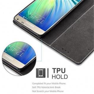 Cadorabo Hülle für Samsung Galaxy A5 2015 in SCHWARZ BRAUN - Handyhülle mit Magnetverschluss, Standfunktion und Kartenfach - Case Cover Schutzhülle Etui Tasche Book Klapp Style - Vorschau 4