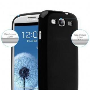 Cadorabo Hülle für Samsung Galaxy S3 / S3 NEO in JELLY SCHWARZ ? Handyhülle aus flexiblem TPU Silikon ? Silikonhülle Schutzhülle Ultra Slim Soft Back Cover Case Bumper - Vorschau 5