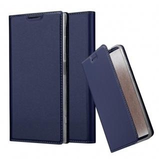 Cadorabo Hülle für Sony Xperia XA1 PLUS in CLASSY DUNKEL BLAU - Handyhülle mit Magnetverschluss, Standfunktion und Kartenfach - Case Cover Schutzhülle Etui Tasche Book Klapp Style