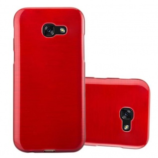 Cadorabo Hülle für Samsung Galaxy A3 2017 in ROT - Handyhülle aus flexiblem TPU Silikon - Silikonhülle Schutzhülle Ultra Slim Soft Back Cover Case Bumper
