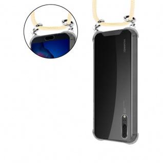 Cadorabo Handy Kette für Huawei P20 in CREME BEIGE - Silikon Necklace Umhänge Hülle mit Silber Ringen, Kordel Band Schnur und abnehmbarem Etui - Schutzhülle - Vorschau 5