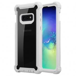 Cadorabo Hülle für Samsung Galaxy S10e in BIRKEN GRAU - 2-in-1 Handyhülle mit TPU Silikon-Rand und Acryl-Glas-Rücken - Schutzhülle Hybrid Hardcase Back Case