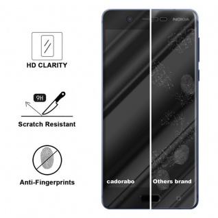 Cadorabo Vollbild Panzer Folie für Nokia 5.1 2018 - Schutzfolie in TRANSPARENT mit SCHWARZ - Gehärtetes (Tempered) Display-Schutzglas in 9H Härte mit 3D Touch Kompatibilität - Vorschau 3