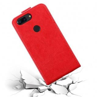 Cadorabo Hülle für OnePlus 5T in APFEL ROT Handyhülle im Flip Design mit Magnetverschluss Case Cover Schutzhülle Etui Tasche Book Klapp Style - Vorschau 5
