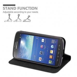 Cadorabo Hülle für Samsung Galaxy S4 ACTIVE in NACHT SCHWARZ - Handyhülle mit Magnetverschluss, Standfunktion und Kartenfach - Case Cover Schutzhülle Etui Tasche Book Klapp Style - Vorschau 3