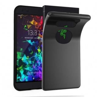 Cadorabo Hülle für Razer Phone 2 in SCHWARZ - Handyhülle aus flexiblem TPU Silikon - Silikonhülle Schutzhülle Ultra Slim Soft Back Cover Case Bumper
