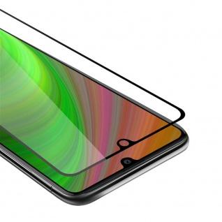 Cadorabo Vollbild Panzer Folie für Samsung Galaxy A41 Schutzfolie in TRANSPARENT mit SCHWARZ Gehärtetes (Tempered) Display-Schutzglas in 9H Härte mit 3D Touch