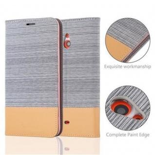 Cadorabo Hülle für Nokia Lumia 1320 in HELL GRAU BRAUN - Handyhülle mit Magnetverschluss, Standfunktion und Kartenfach - Case Cover Schutzhülle Etui Tasche Book Klapp Style - Vorschau 2