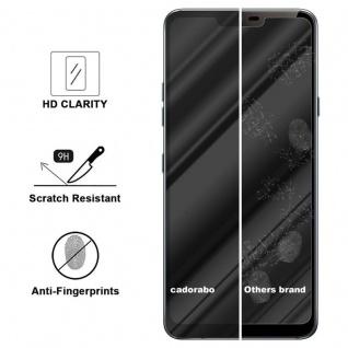 Cadorabo Vollbild Panzer Folie für LG G7 ThinQ - Schutzfolie in TRANSPARENT mit SCHWARZ - Gehärtetes (Tempered) Display-Schutzglas in 9H Härte mit 3D Touch Kompatibilität - Vorschau 3