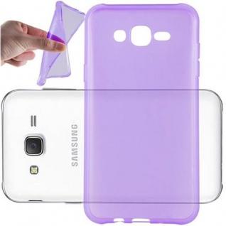 Cadorabo Hülle für Samsung Galaxy J7 2015 in TRANSPARENT LILA - Handyhülle aus flexiblem TPU Silikon - Silikonhülle Schutzhülle Ultra Slim Soft Back Cover Case Bumper