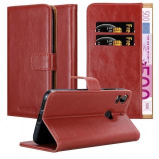 Cadorabo Hülle für HTC Desire 10 PRO in WEIN ROT ? Handyhülle mit Magnetverschluss, Standfunktion und Kartenfach ? Case Cover Schutzhülle Etui Tasche Book Klapp Style
