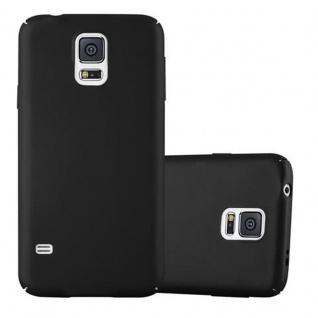 Cadorabo Hülle für Samsung Galaxy S5 / S5 NEO in METALL SCHWARZ - Hardcase Handyhülle aus Plastik gegen Kratzer und Stöße - Schutzhülle Bumper Ultra Slim Back Case Hard Cover