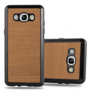 Cadorabo Hülle für Samsung Galaxy J5 2016 in WOODEN BRAUN ? Handyhülle aus flexiblem TPU Silikon ? Silikonhülle Schutzhülle Ultra Slim Soft Back Cover Case Bumper