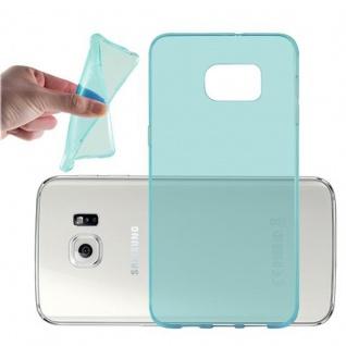 Cadorabo Hülle für Samsung Galaxy S6 EDGE PLUS - Hülle in TRANSPARENT BLAU ? Handyhülle aus TPU Silikon im Ultra Slim 'AIR' Design - Ultra Slim Soft Backcover Case Bumper