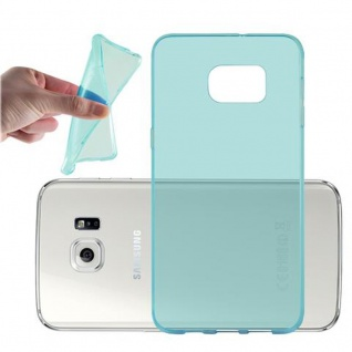 Cadorabo Hülle für Samsung Galaxy S6 EDGE PLUS in TRANSPARENT BLAU - Handyhülle aus flexiblem TPU Silikon - Silikonhülle Schutzhülle Ultra Slim Soft Back Cover Case Bumper