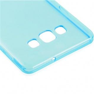 Cadorabo Hülle für Samsung Galaxy A7 2015 in TRANSPARENT BLAU - Handyhülle aus flexiblem TPU Silikon - Silikonhülle Schutzhülle Ultra Slim Soft Back Cover Case Bumper - Vorschau 4