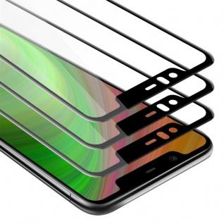 Cadorabo 3x Vollbild Panzer Folie für Nokia 5.1 PLUS / X5 - Schutzfolie in TRANSPARENT mit SCHWARZ - 3er Pack Gehärtetes (Tempered) Display-Schutzglas in 9H Härte mit 3D Touch