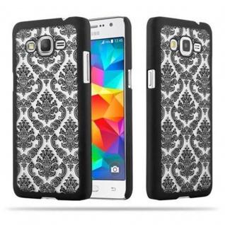 Samsung Galaxy GRAND PRIME Hardcase Hülle in SCHWARZ von Cadorabo - Blumen Paisley Henna Design Schutzhülle ? Handyhülle Bumper Back Case Cover