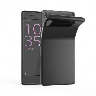 Cadorabo Hülle für Sony Xperia XA1 in SCHWARZ - Handyhülle aus flexiblem TPU Silikon - Silikonhülle Schutzhülle Ultra Slim Soft Back Cover Case Bumper