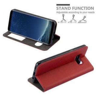 Cadorabo Hülle für Samsung Galaxy S8 in SAFRAN ROT ? Handyhülle mit Magnetverschluss, Standfunktion und 2 Sichtfenstern ? Case Cover Schutzhülle Etui Tasche Book Klapp Style - Vorschau 5