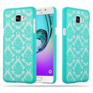 Samsung Galaxy A5 2016 Hardcase Hülle in GRÜN von Cadorabo - Blumen Paisley Henna Design Schutzhülle ? Handyhülle Bumper Back Case Cover