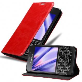 Cadorabo Hülle für Blackberry Q10 in APFEL ROT Handyhülle mit Magnetverschluss, Standfunktion und Kartenfach Case Cover Schutzhülle Etui Tasche Book Klapp Style