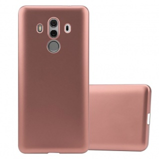 Cadorabo Hülle für Huawei MATE 10 PRO in METALLIC ROSÉ GOLD - Handyhülle aus flexiblem TPU Silikon - Silikonhülle Schutzhülle Ultra Slim Soft Back Cover Case Bumper