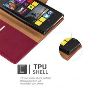Cadorabo Hülle für Nokia Lumia 1020 in WEIN ROT - Handyhülle mit Magnetverschluss, Standfunktion und Kartenfach - Case Cover Schutzhülle Etui Tasche Book Klapp Style - Vorschau 4