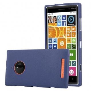 Cadorabo Hülle für Nokia Lumia 830 in FROST DUNKEL BLAU - Handyhülle aus flexiblem TPU Silikon - Silikonhülle Schutzhülle Ultra Slim Soft Back Cover Case Bumper