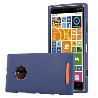 Cadorabo Hülle für Nokia Lumia 830 in FROST DUNKEL BLAU Handyhülle aus flexiblem TPU Silikon Silikonhülle Schutzhülle Ultra Slim Soft Back Cover Case Bumper
