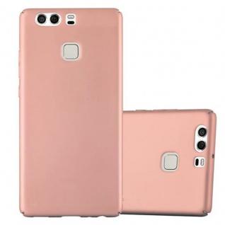 Cadorabo Hülle für Huawei P9 in METALL ROSE GOLD Hardcase Handyhülle aus Plastik gegen Kratzer und Stöße Schutzhülle Bumper Ultra Slim Back Case Hard Cover
