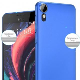 Cadorabo Hülle für HTC Desire 10 Lifestyle / Desire 825 in METALL BLAU ? Hardcase Handyhülle aus Plastik gegen Kratzer und Stöße ? Schutzhülle Bumper Ultra Slim Back Case Hard Cover - Vorschau 4
